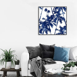 Wall-Art-Poster-Canvas-Framed-Look Up At The Palms-Gioia Wall Art