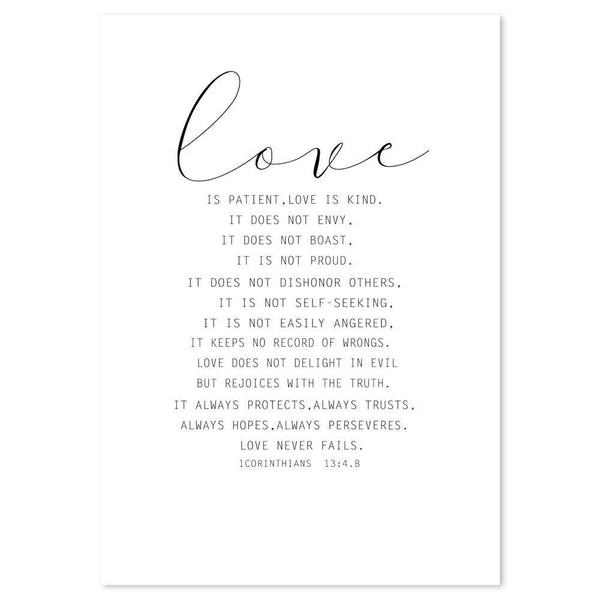Wall-Art-Poster-Canvas-Framed-Love Is Patient, Quote-Gioia Wall Art