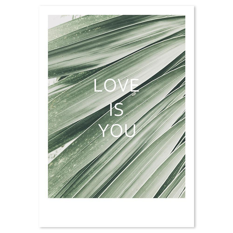 Wall-Art-Poster-Canvas-Framed-Love Is You, greenery love series-Gioia Wall Art