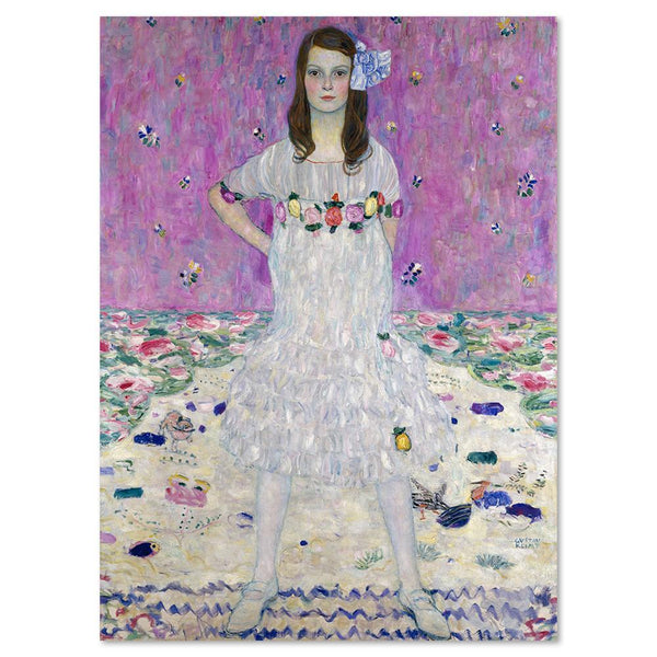 Wall-Art-Poster-Canvas-Framed-Mada Primavesi, by Gustav Klimt-Gioia Wall Art