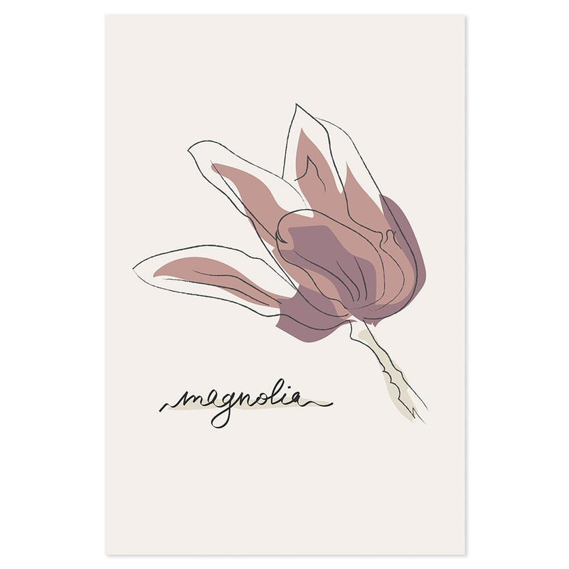 Wall-Art-Poster-Canvas-Framed-Magnolia-Gioia Wall Art