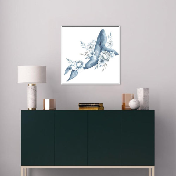 Wall-Art-Poster-Canvas-Framed-Majestic Wale Illustration-Gioia Wall Art