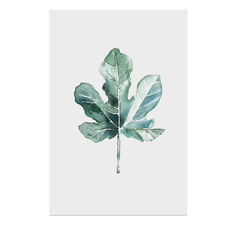 Wall-Art-Poster-Canvas-Framed-Maple Leaf, Watercolour Painting-Gioia Wall Art