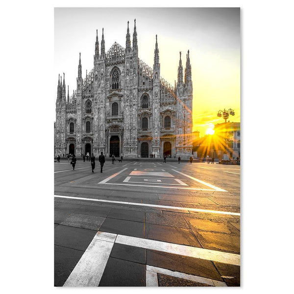 Wall-Art-Poster-Canvas-Framed-Milan Cathedral-Gioia Wall Art