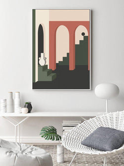 Wall-Art-Poster-Canvas-Framed-Morandi Colour Illustration, Style G-Gioia Wall Art