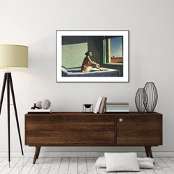 Wall-Art-Poster-Canvas-Framed-Morning Sun, By Edward Hopper-Gioia Wall Art