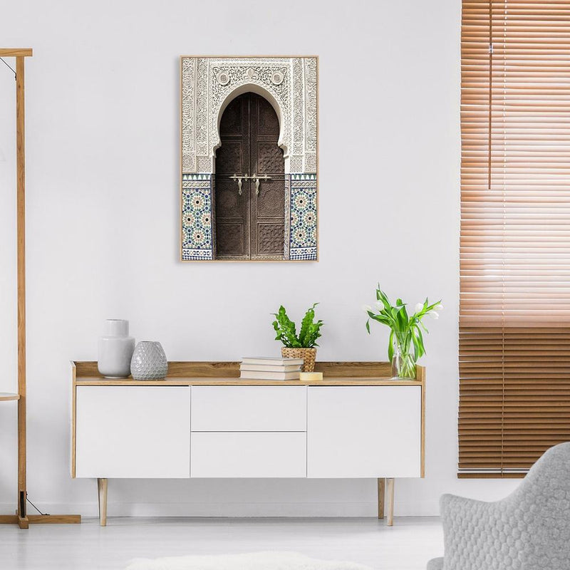 Wall-Art-Poster-Canvas-Framed-Moroccan Door-Gioia Wall Art