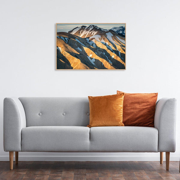 Wall-Art-Poster-Canvas-Framed-Mountain and shadow-Gioia Wall Art