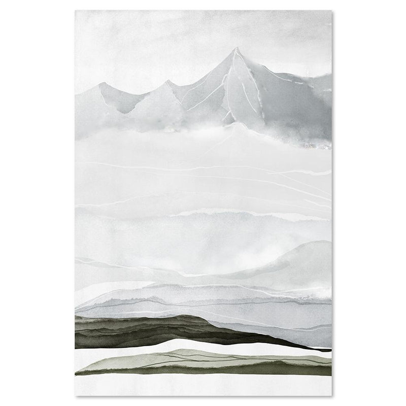 Wall-Art-Poster-Canvas-Framed-Mountains, Abstract, Style B-Gioia Wall Art