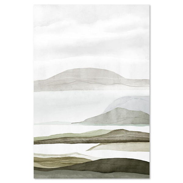 Wall-Art-Poster-Canvas-Framed-Mountains, Abstract, Style C-Gioia Wall Art
