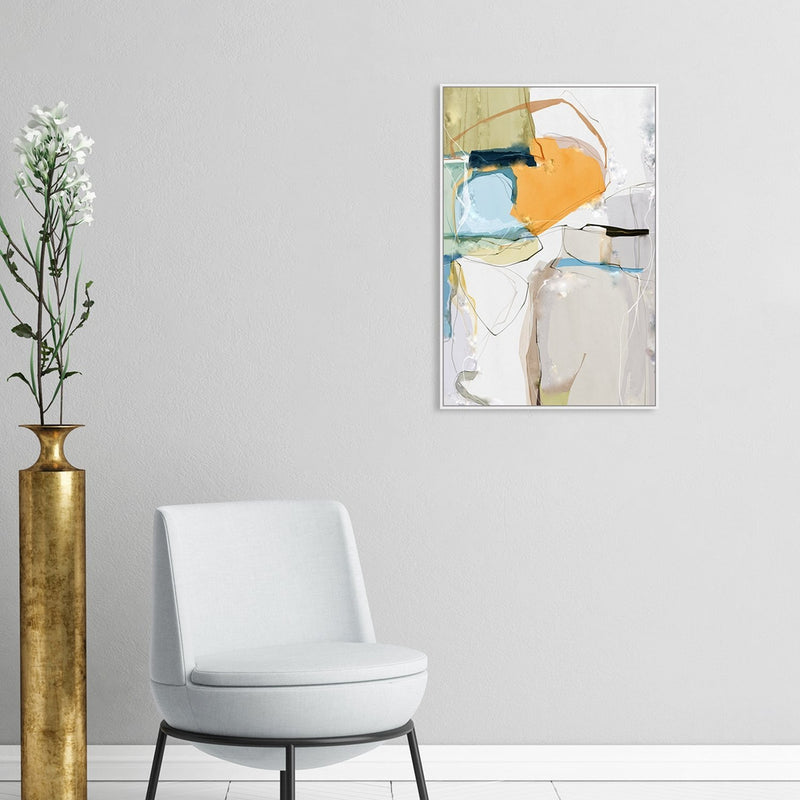 Wall-Art-Poster-Canvas-Framed-Nature worship, Abstract Art, Style B-Gioia Wall Art