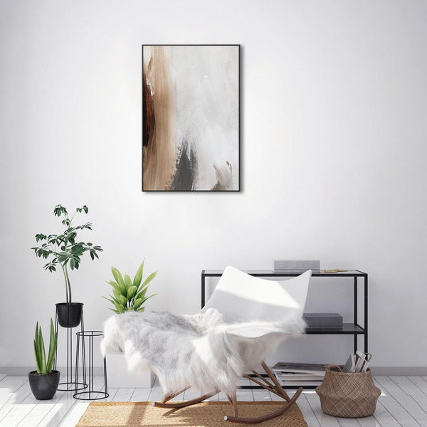 Wall-Art-Poster-Canvas-Framed-Neutral Abstract, Style A-Gioia Wall Art