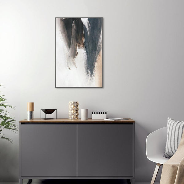 Wall-Art-Poster-Canvas-Framed-Neutral Abstract, Style B-Gioia Wall Art