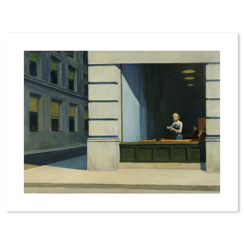 Wall-Art-Poster-Canvas-Framed-New York office, By Edward Hopper-Gioia Wall Art