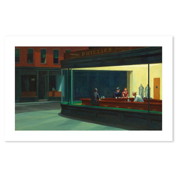 Wall-Art-Poster-Canvas-Framed-Nighthawks, By Edward Hopper-Gioia Wall Art