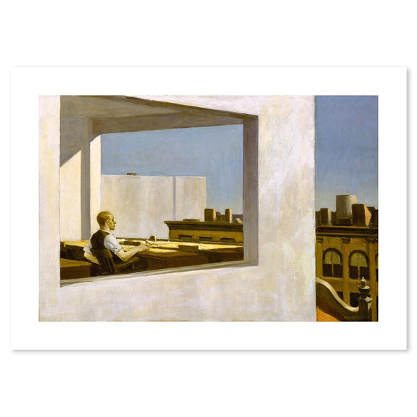 Wall-Art-Poster-Canvas-Framed-Office in a Small City, By Edward Hopper-Gioia Wall Art
