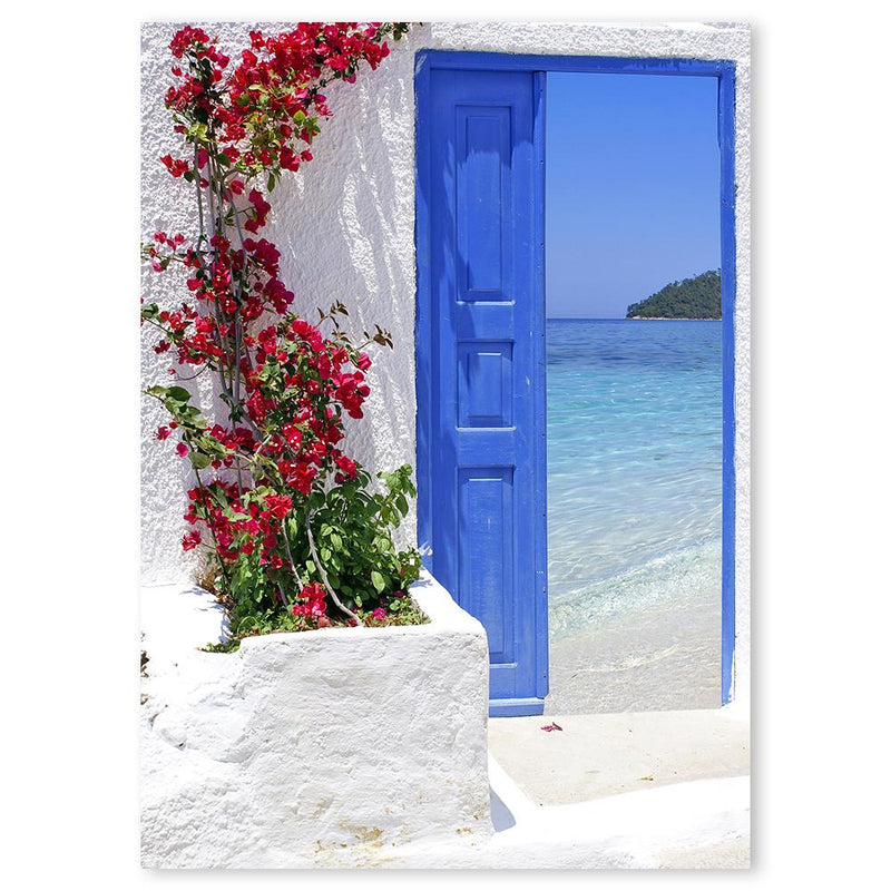 Wall-Art-Poster-Canvas-Framed-Open Door To Greece-Gioia Wall Art