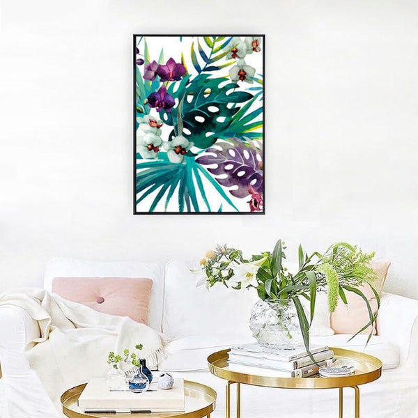 Wall-Art-Poster-Canvas-Framed-Orchid, Watercolour-Gioia Wall Art