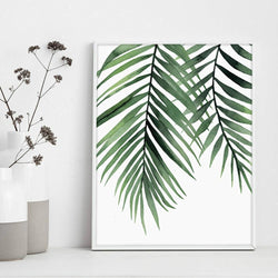 Wall-Art-Poster-Canvas-Framed-Palm Leaves-Gioia Wall Art