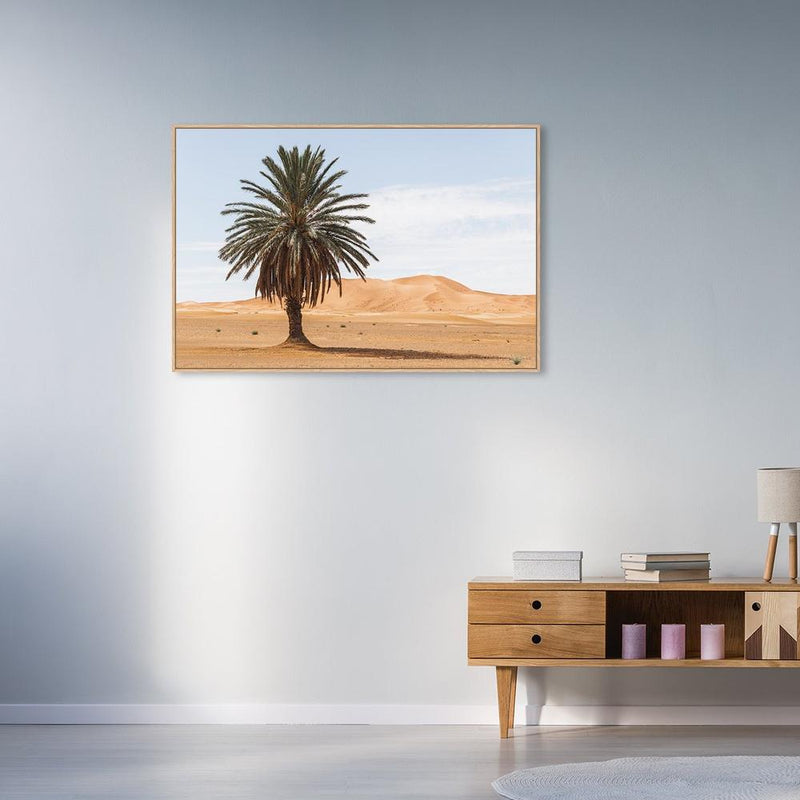 Wall-Art-Poster-Canvas-Framed-Palm tree in desert-Gioia Wall Art