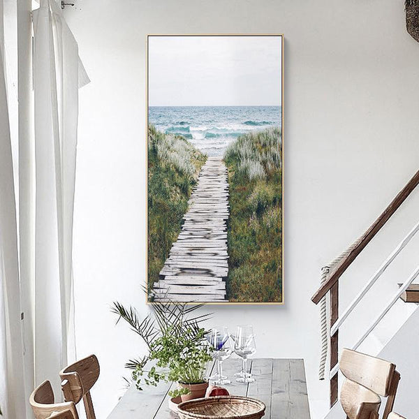 Wall-Art-Poster-Canvas-Framed-Pathway To The Coast-Gioia Wall Art