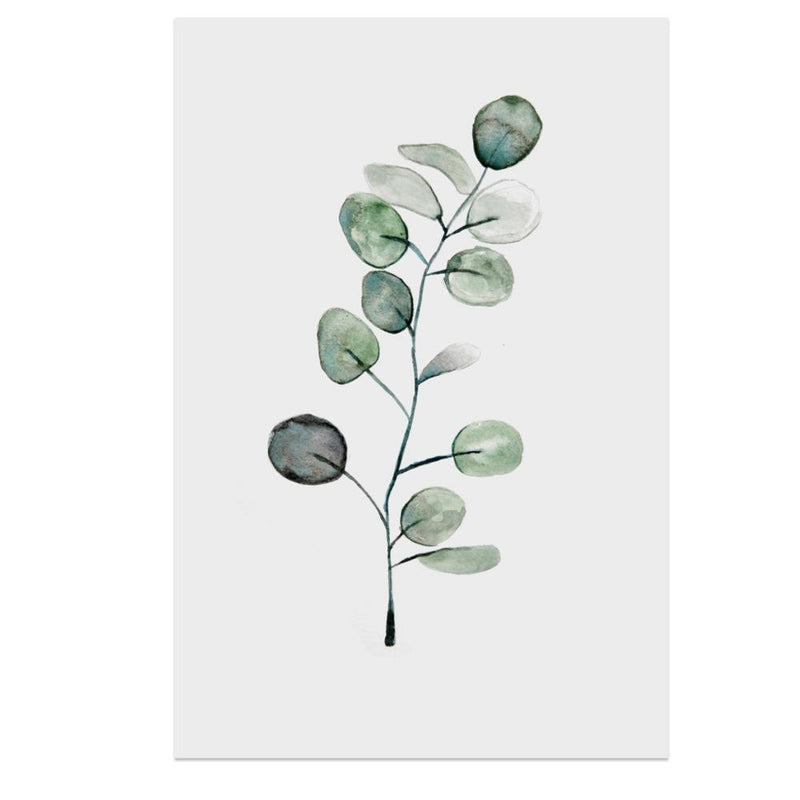 Wall-Art-Poster-Canvas-Framed-Pilea Leaves-Gioia Wall Art
