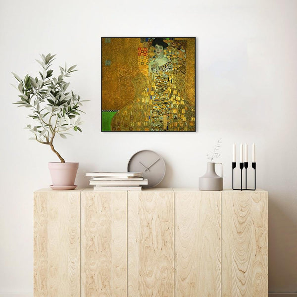 Wall-Art-Poster-Canvas-Framed-Portrait of Adele Bloch Bauer, by Gustav Klimt-Gioia Wall Art