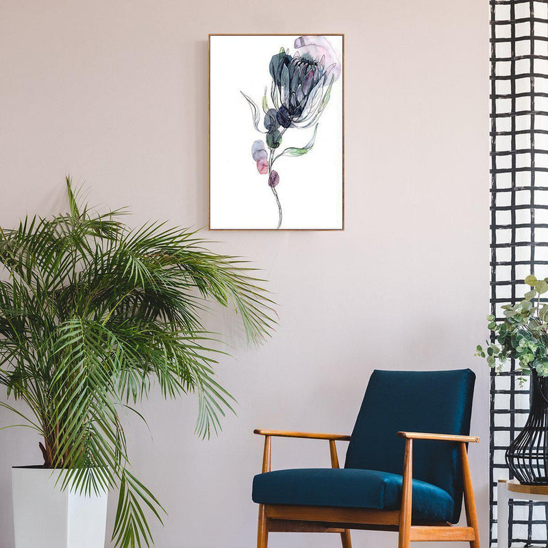 Wall-Art-Poster-Canvas-Framed-Protea, Watercolour Painting-Gioia Wall Art