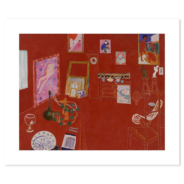 Wall-Art-Poster-Canvas-Framed-Red Studio, By Henri Matisse-Gioia Wall Art