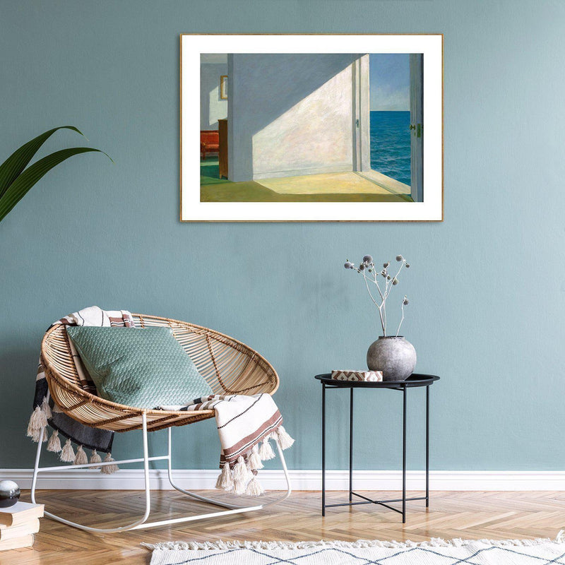 Wall-Art-Poster-Canvas-Framed-Rooms by the Sea, By Edward Hopper-Gioia Wall Art