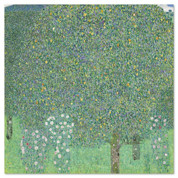 Wall-Art-Poster-Canvas-Framed-Rosebushes under the Trees, by Gustav Klimt-Gioia Wall Art