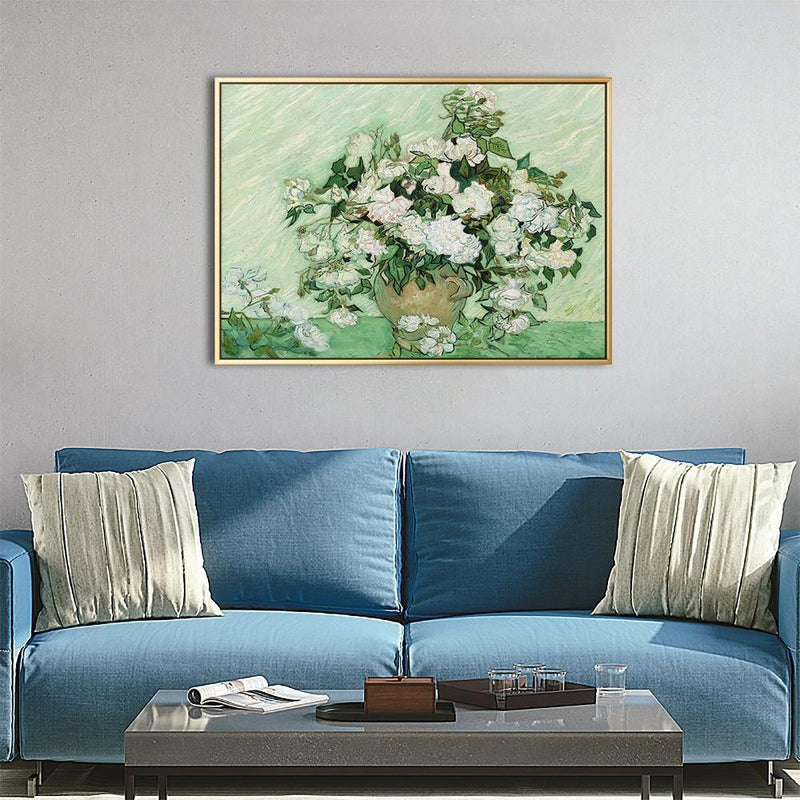 Wall-Art-Poster-Canvas-Framed-Roses, Van Gogh-Gioia Wall Art