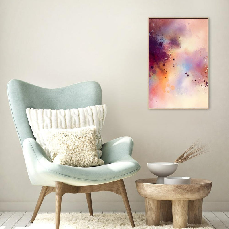 Wall-Art-Poster-Canvas-Framed-Rosy Runglow, Style A-Gioia Wall Art