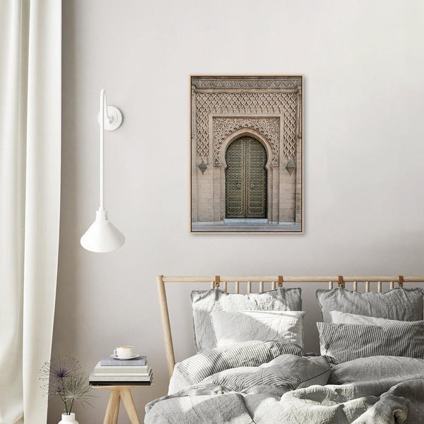 Wall-Art-Poster-Canvas-Framed-Sage Green Door Of Morocco-Gioia Wall Art