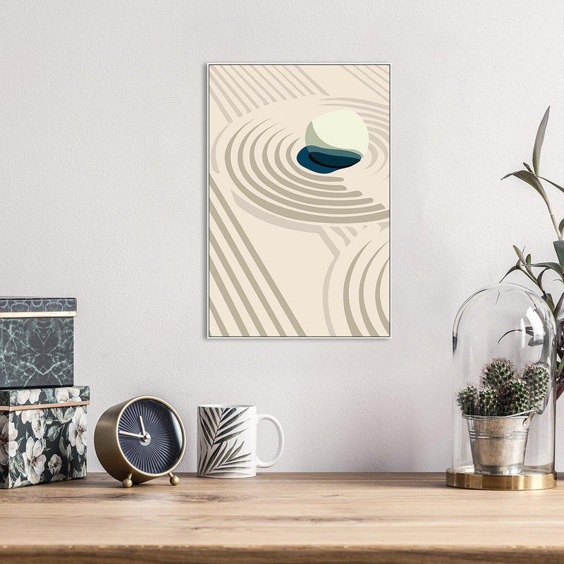 Wall-Art-Poster-Canvas-Framed-Sand Wave, Abstract Art, Style A-Gioia Wall Art
