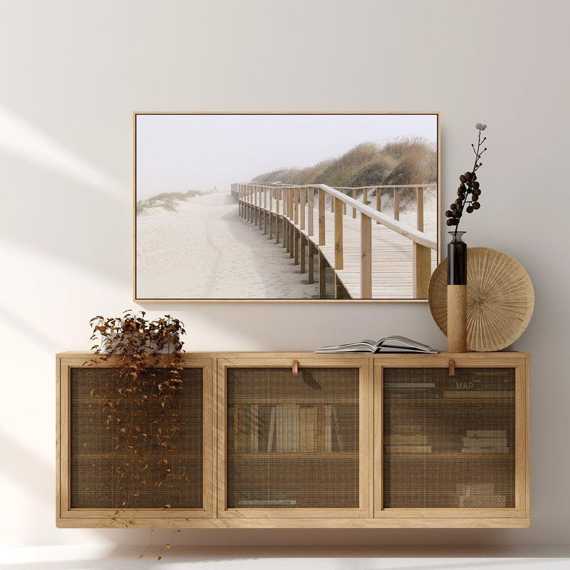 Wall-Art-Poster-Canvas-Framed-Sandy Pier-Gioia Wall Art