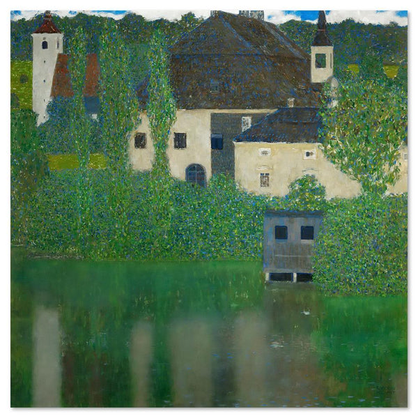Wall-Art-Poster-Canvas-Framed-Schloss Kammer On Attersee, by Gustav Klimt-Gioia Wall Art