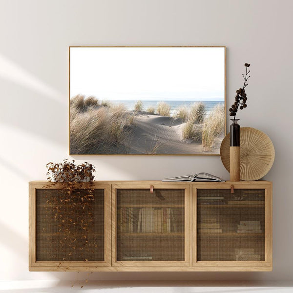 Wall-Art-Poster-Canvas-Framed-Seagrass by the beach-Gioia Wall Art