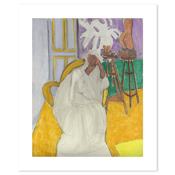 Wall-Art-Poster-Canvas-Framed-Seated Figure and Greek Torso, By Henri Matisse-Gioia Wall Art
