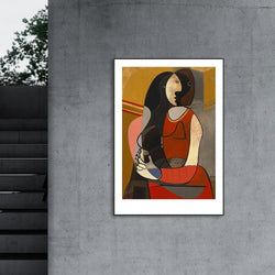 Wall-Art-Poster-Canvas-Framed-Seated Woman, by Pablo Picasso-Gioia Wall Art