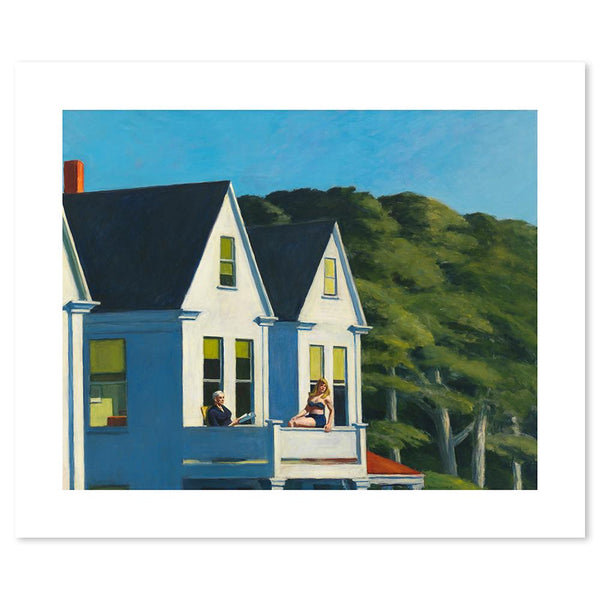Wall-Art-Poster-Canvas-Framed-Second Story Sunlight, By Edward Hopper-Gioia Wall Art
