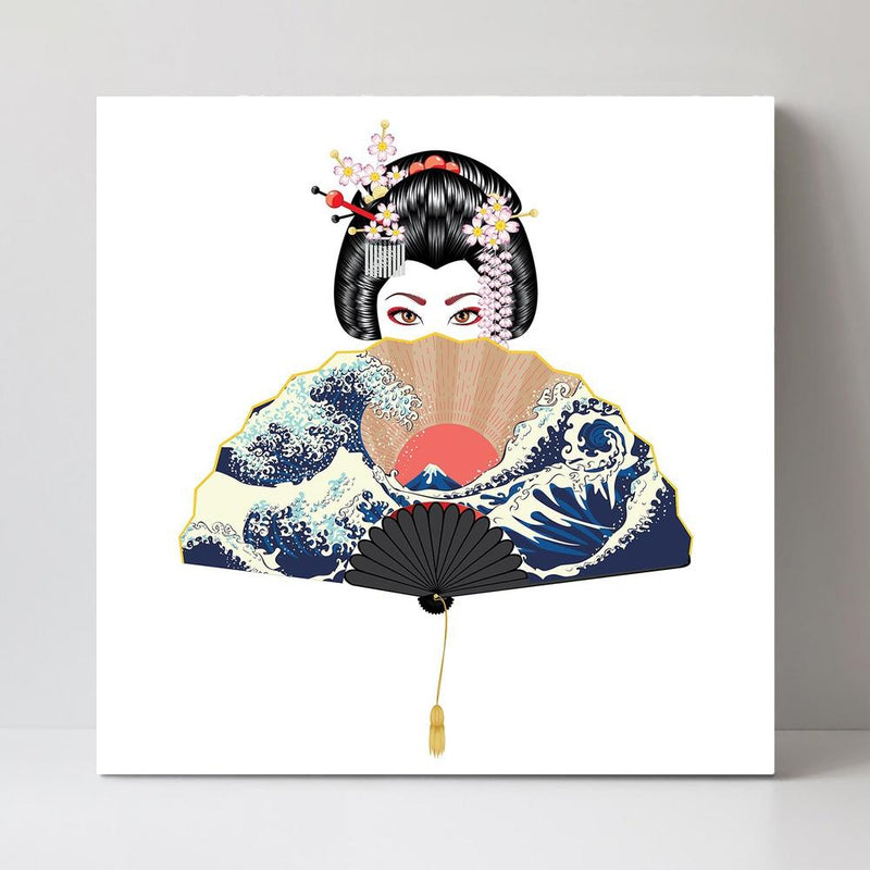 Wall-Art-Poster-Canvas-Framed-Shy Geisha-Gioia Wall Art
