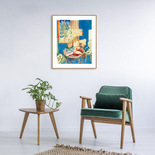 Wall-Art-Poster-Canvas-Framed-Small Blue Interior, By Henri Matisse-Gioia Wall Art