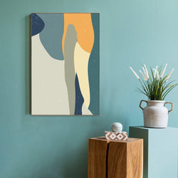 Wall-Art-Poster-Canvas-Framed-Soft Lines, Abstract Art-Gioia Wall Art