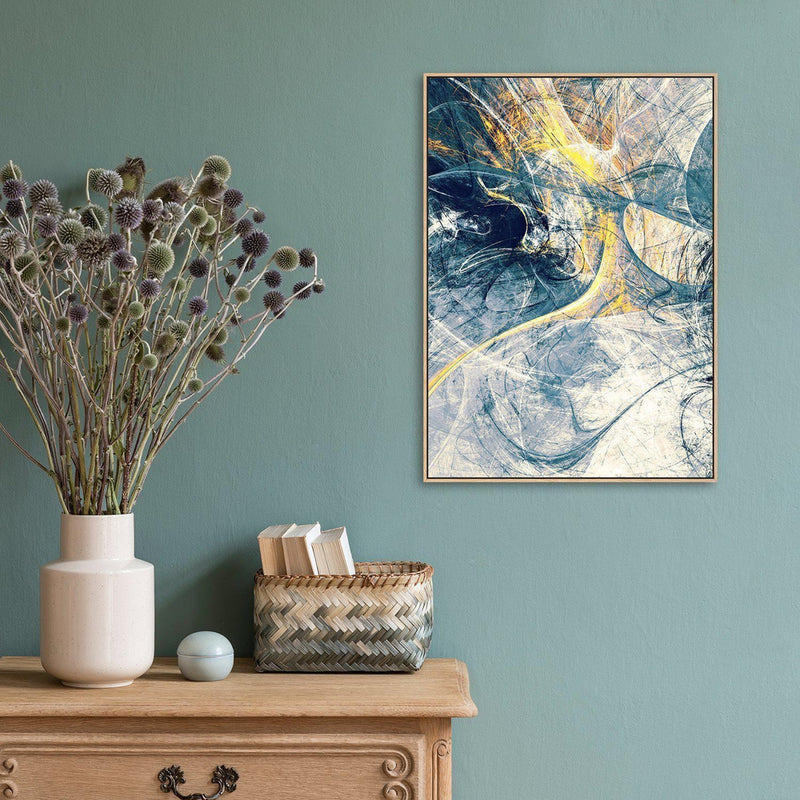 Wall-Art-Poster-Canvas-Framed-Spark, Abstract Art, Style C-Gioia Wall Art