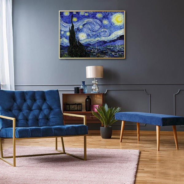 Wall-Art-Poster-Canvas-Framed-Starry Night, Van Gogh-Gioia Wall Art