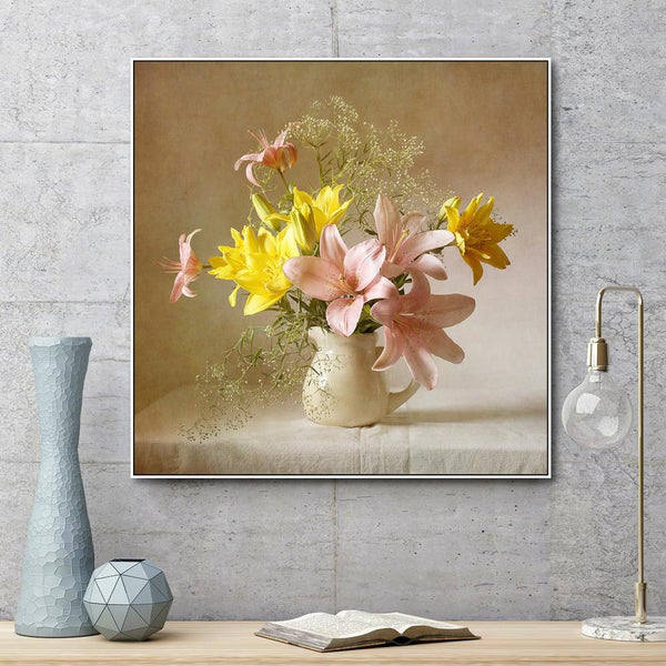 Wall-Art-Poster-Canvas-Framed-Still Life Floral Arrangement-Gioia Wall Art