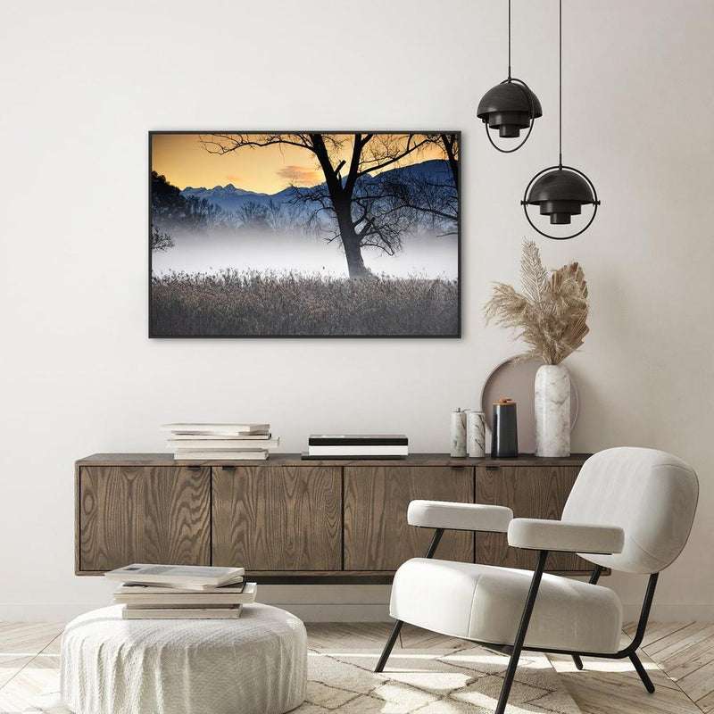 Wall-Art-Poster-Canvas-Framed-Still Morning in the Outback-Gioia Wall Art