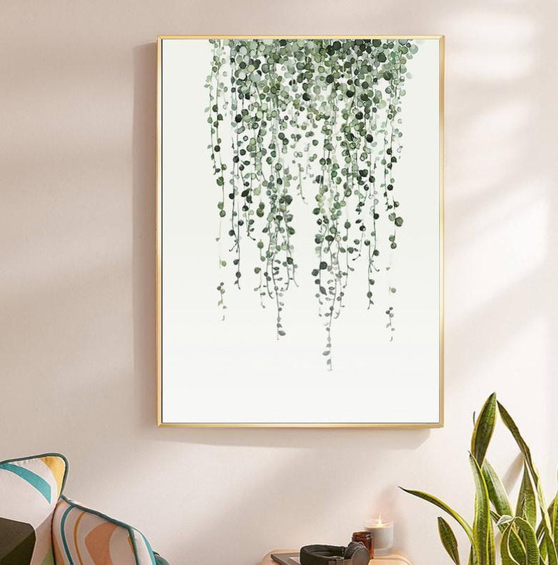 Wall-Art-Poster-Canvas-Framed-String Of Pearls, Watercolour-Gioia Wall Art