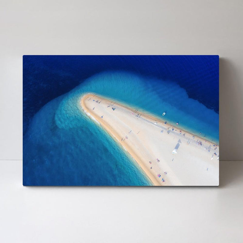 Wall-Art-Poster-Canvas-Framed-Stunning Shoreline and Blue Sea, Style B, Landscape-Gioia Wall Art